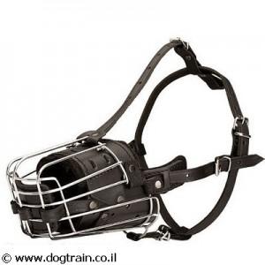 BM-4153- זמם סל לכלב משולב עור היקפי ומגן חוטם קדמי