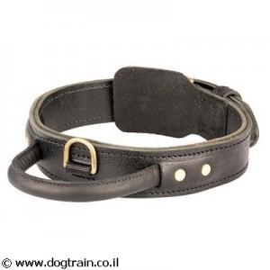 LC-0131 קולר עור לכלב עם ידית אחיזה