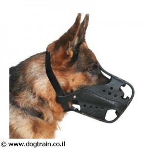 LM-2717- זמם עור קשיח לכלב עבודה