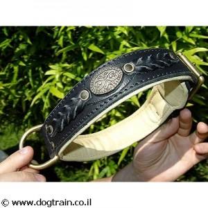 LC-2115- קולר עור נאפה אקסקלוסיבי לכלב