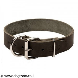 LC-4793 קולר עור קלאסי רחב לכלבים בינוניים וגדולים