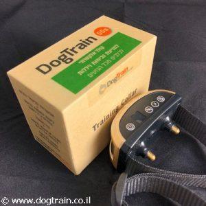 DogTrain-55s קולר חשמלי נטען נגד נביחות ויללות לגזעים קטנים עם אפשרות לביטול הזרם