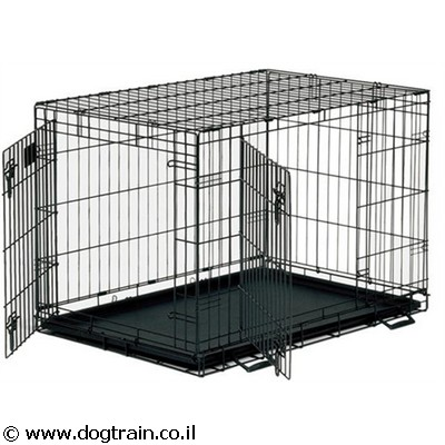 dog training cage-2 doors