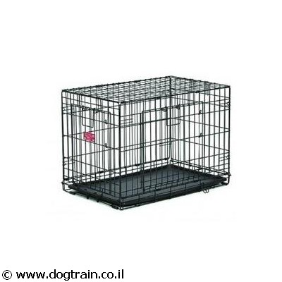 dog training cage 2 doors