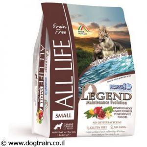 "Legend All Life-מזון יבש 1 ק""ג לכלבים קטנים ללא דגנים"
