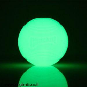 ChuckIt Max Glow-כדור פולט אור מגומי איכותי עמיד