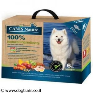 CANIS Nature דגים- מזון 100% טבעי רך לכלבים עם 70% דגים וללא דגנים