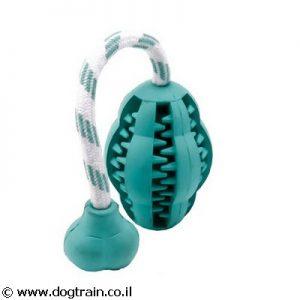 צעצוע משיכה נגד ריח רע מהפה בצורת מלון עם חבל