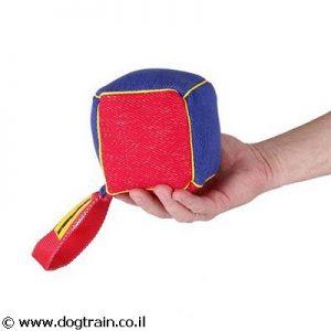 פפירול קוביית נשיכה גדולה עם ידית לכלב לאימון ומשחק