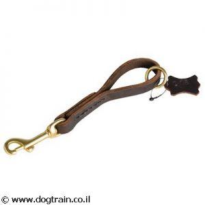 רצועת ידית עור לכלב עם לולאה צפה לאחיזה קלה ומהירה