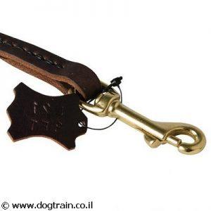 רצועת כיס מקצועית מעור לכלב לאימוני אילוף ראשונים