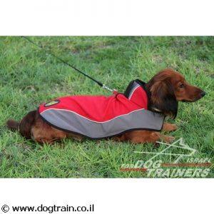 מעיל ניילון מחמם לכלב לטיולים בחורף ובגשם