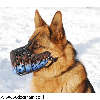 painted-best-dog-muzzle-on-german-shepherd
