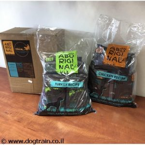 "Aboriginal-מזון טבעי עוף לכלבים (15 ק""ג) עם 80% בשר אמיתי"