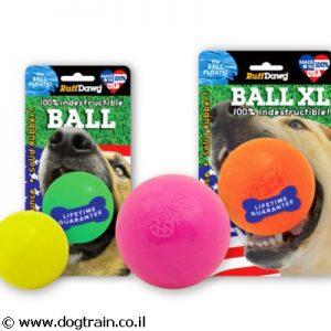 Ruff Dawg Ball כדור לעיסה ומשחק לכלב בלתי ניתן לקריעה