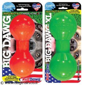 Ruff Dawg Big Dawg צעצוע לעיסה ומשחק לכלב בצורת משקולת בלתי ניתן לקריעה