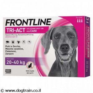 """פרונטליין TRI-ACT טריאקט אמפולות לכלבים בינוניים/גדולים 20-40 ק""""ג למניעת פרעושים וקרציות"""