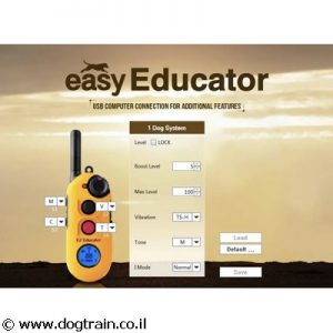 e-collar Easy Educator EZ-900 קולר אילוף מקצועי לכלבים