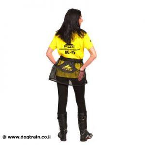 חצאית-פאוץ בצבע שחור עם כיסים לאילוף כלבים