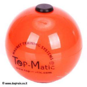 כדור גומי כתום לאימוני אילוף ולמשחק