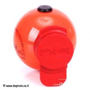 """כדור גומי כתום עם סט מגנטים חזקים במיוחד בקוטר 6.8 ס""""מ"""