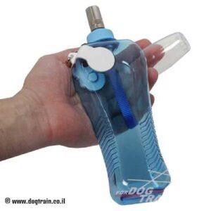 בקבוק מים מפלסטיק לכלב עם ידית ניילון