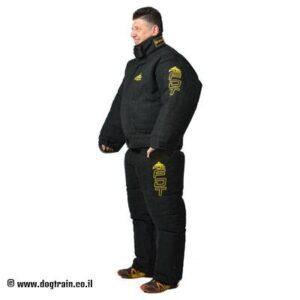 חליפת נשיכה שחורה להגנה מלאה על הגוף